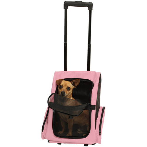 OxGord Rolling Backpack Easy Walk Travel Tote Pet Carrier ...