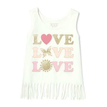 The Children's Place Fringe Tank Top (Baby Girls & Toddler (Best Place To Shop For Baby Clothes)