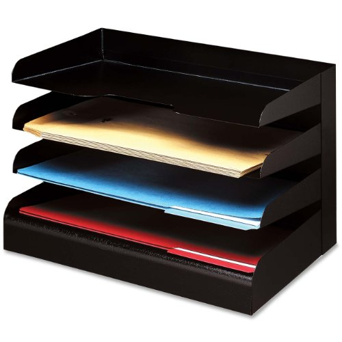 Buddy Desktop Organizer - 4 Tier[s] - Steel - Black (BDY04144)