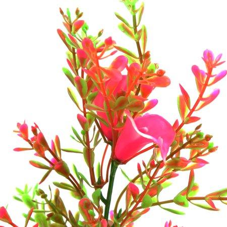 2pcs Plastic Plant Aquarium Fishbowl Tank Aquascape Ornament with Weighted Base - image 1 of 4