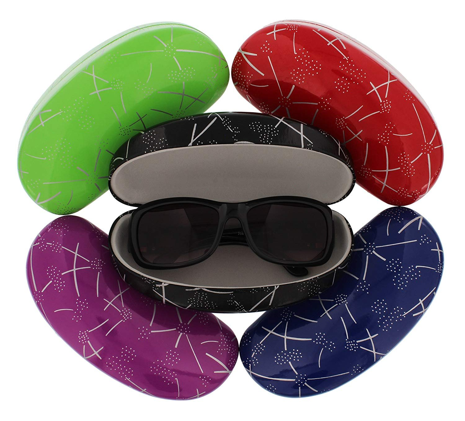 Glasses Case for Women and Men Fun Rigid Colours Very Resistant Snake