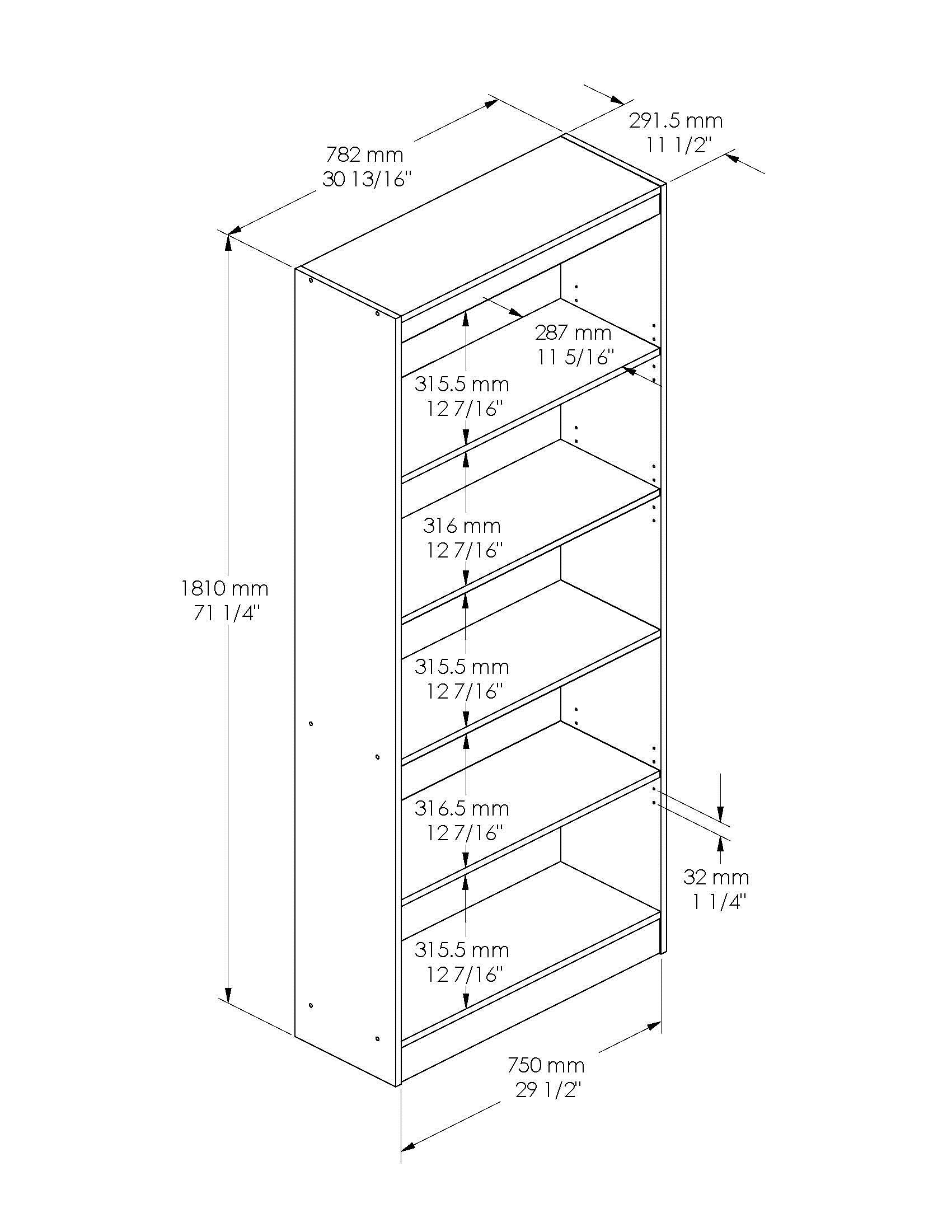 South Shore Smart Basics 5-Shelf Bookcase, Multiple Finishes - Walmart.com