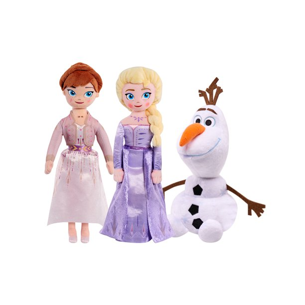 "Disney Frozen II 10"" Anna & Elsa & 8"" Olaf Small Toy Plush Doll 3 Pc Set"