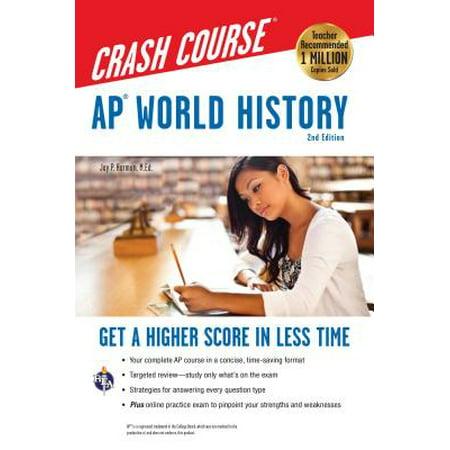 Ap(r) World History Crash Course, 2nd Ed., Book +