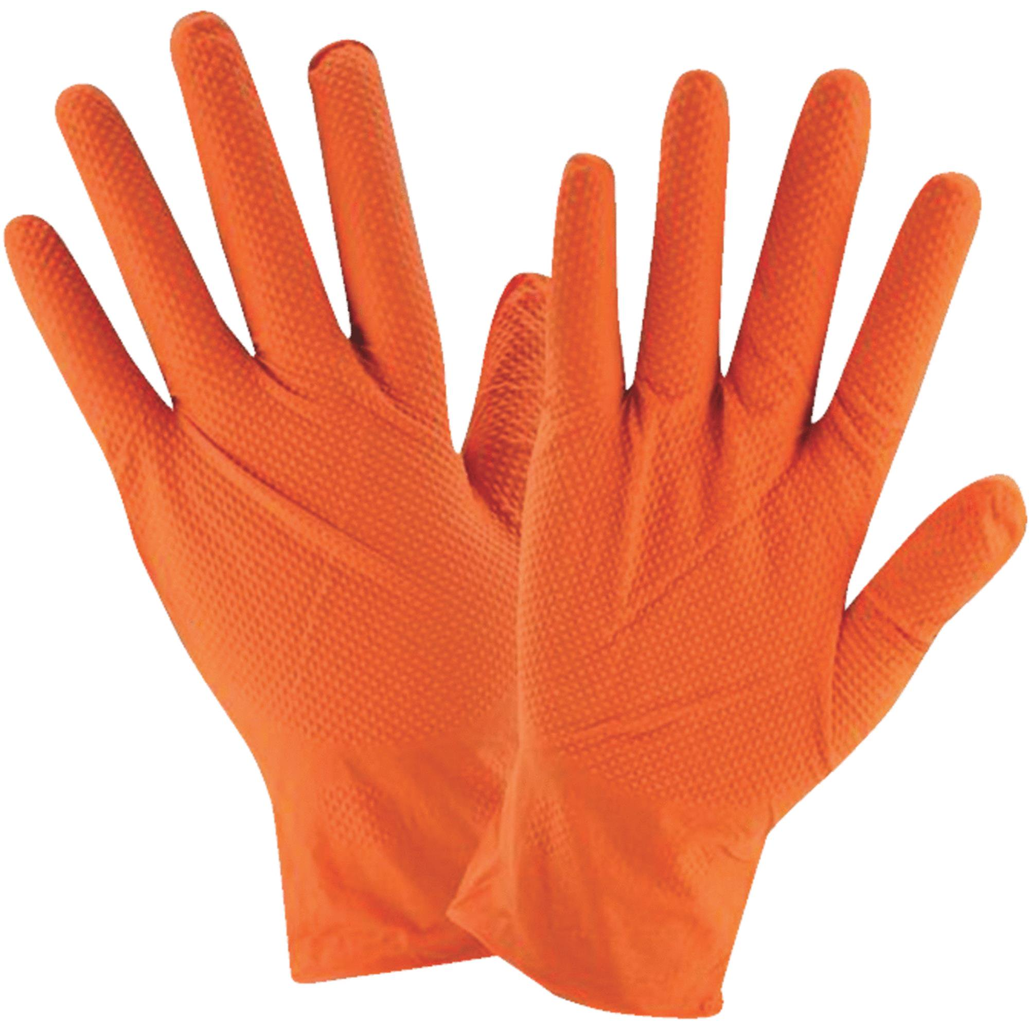 West Chester Protective Gear Posi Shield Hi Vis Industrial Grade Nitrile Disposable Glove
