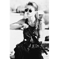 Linda Hamilton as Sarah Connor in sunglasses loading rifle Terminator 2 24x36 Poster