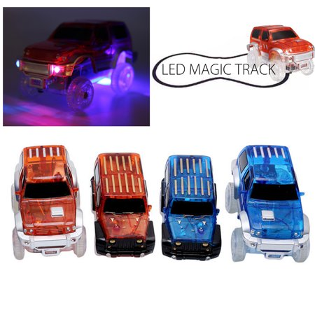 Electronics Car For Magic Track Rail Toys With LED Flashing Lights Toys Kids Children Christmas Tech Gift