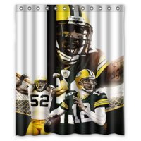 Product Image DEYOU Green Bay Packers Shower Curtain Polyester Fabric Bathroom Size 60x72 Inches