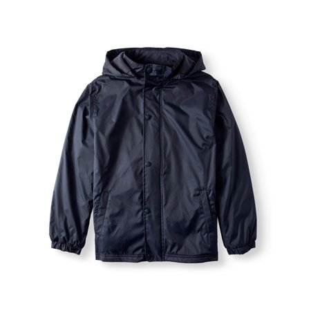 Wonder Nation Boys School Uniform Removable Hood Jacket (Little Boys & Big (Best Waterproof Jacket Brands)