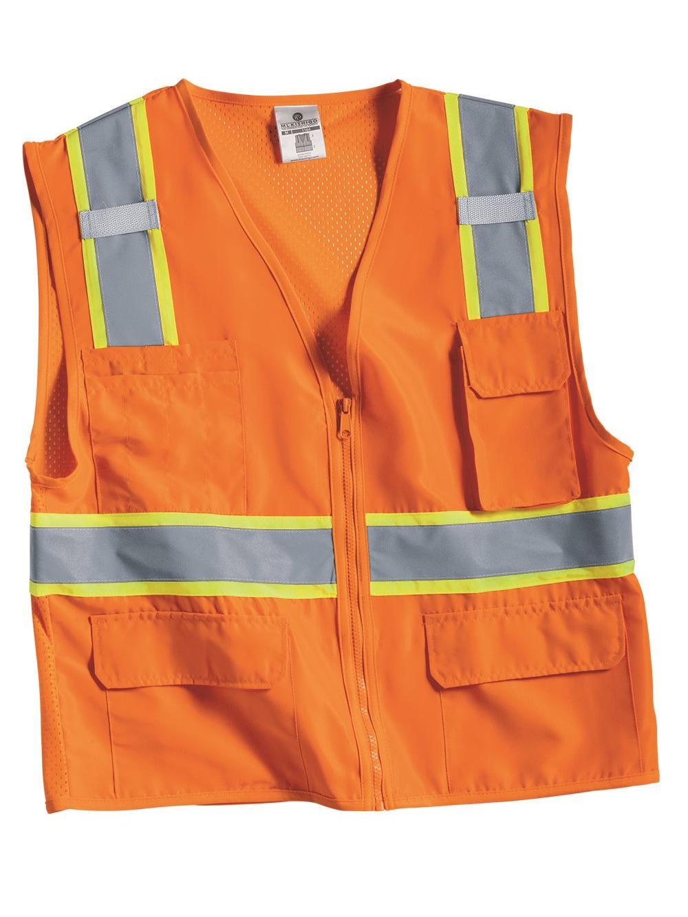 ML Kishigo Workwear Solid Front Vest with Mesh Back
