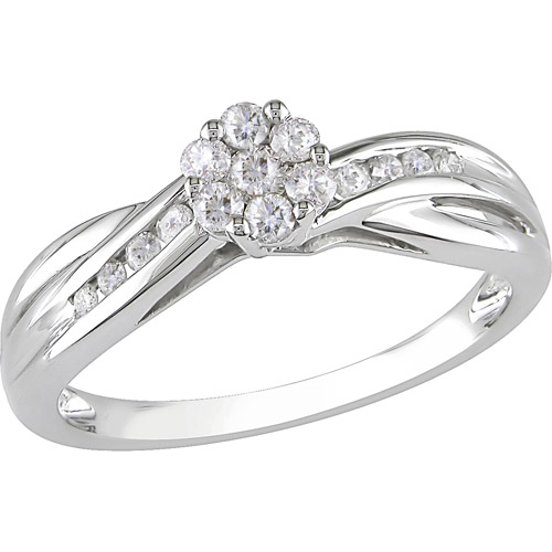 1/3 Carat T.W. Diamond Engagement Ring in 10kt White Gold