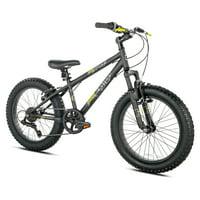 "BCA 20"" Genesis Rock Blaster Fat Tire Mountain Boy's Bike, Black"