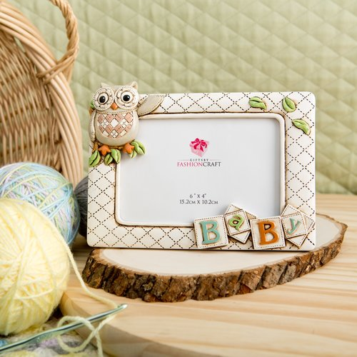 Fashion Craft Gifts Baby Owl Picture Frame