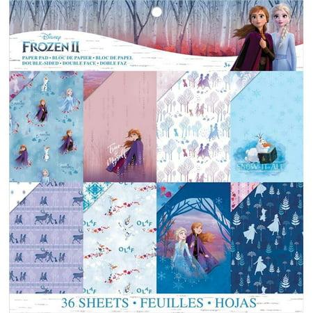 EK Disney Frozen II Paper Pad 12x12 Disney Princess 12x12 Paper