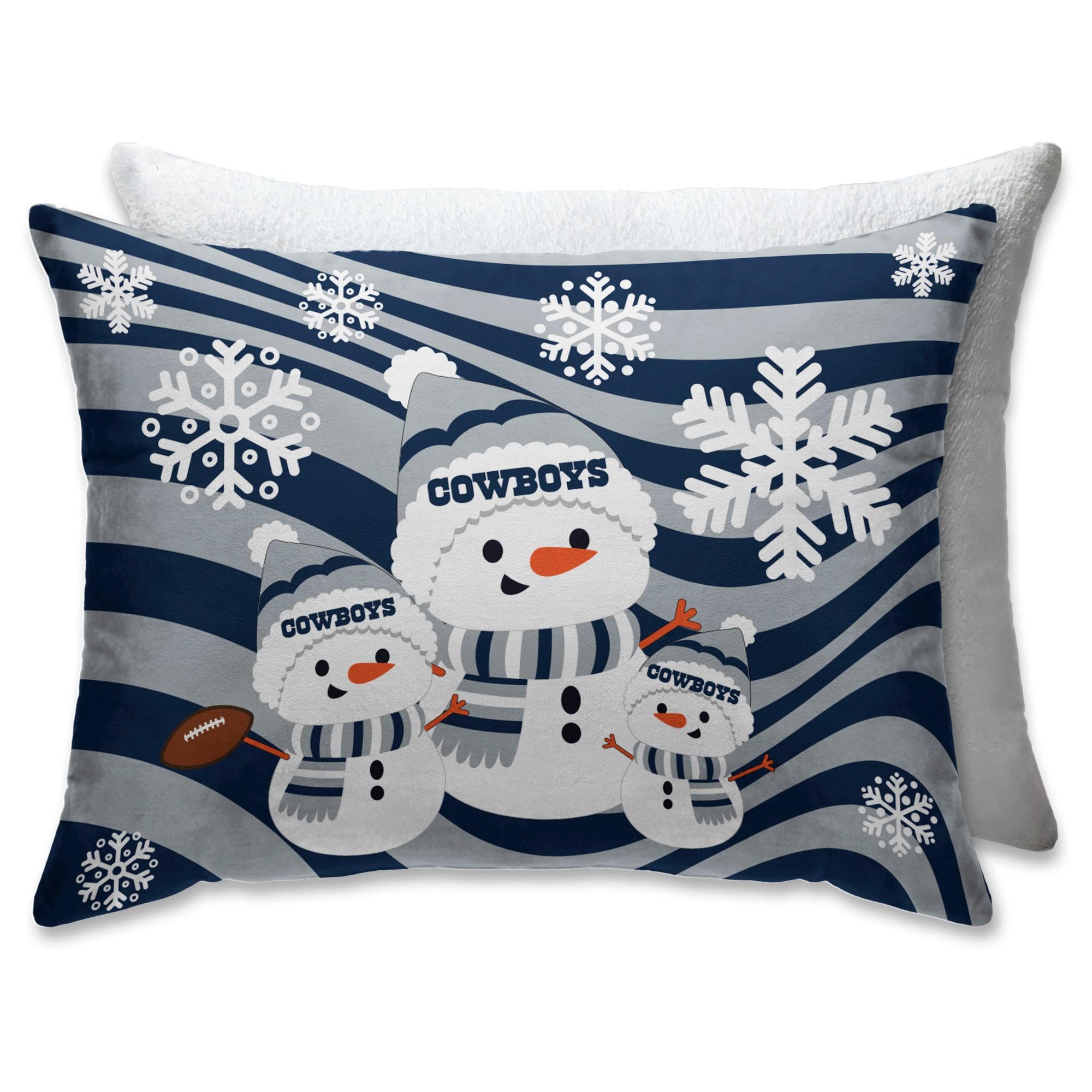 Dallas Cowboys 20 X 26 Holiday Team Snowman Bed Pillow Walmart Com Walmart Com