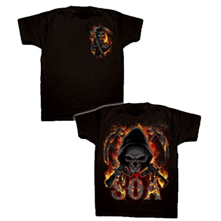 Sons of Anarchy Reaper Flames Adult T-Shirt - Reaper Clothes