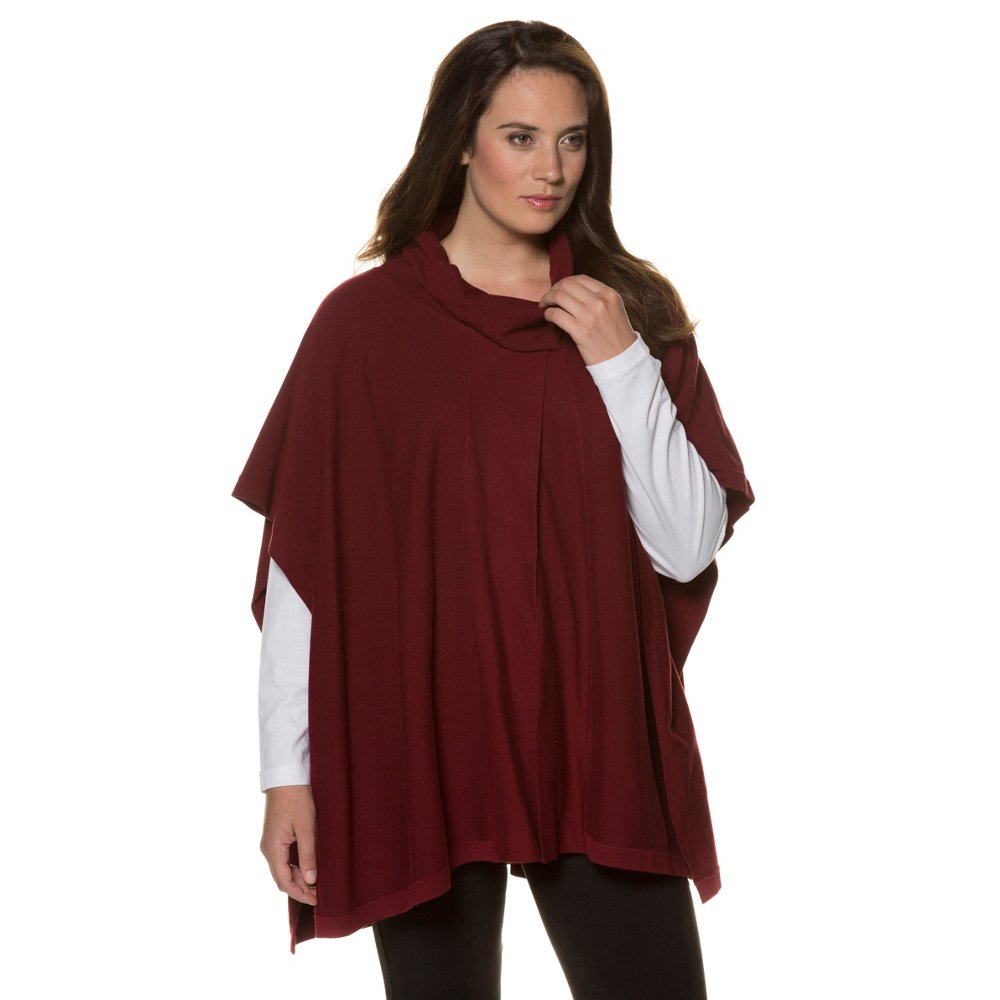 Ulla Popken Women's Plus Size Turtleneck Sweater Poncho. ...