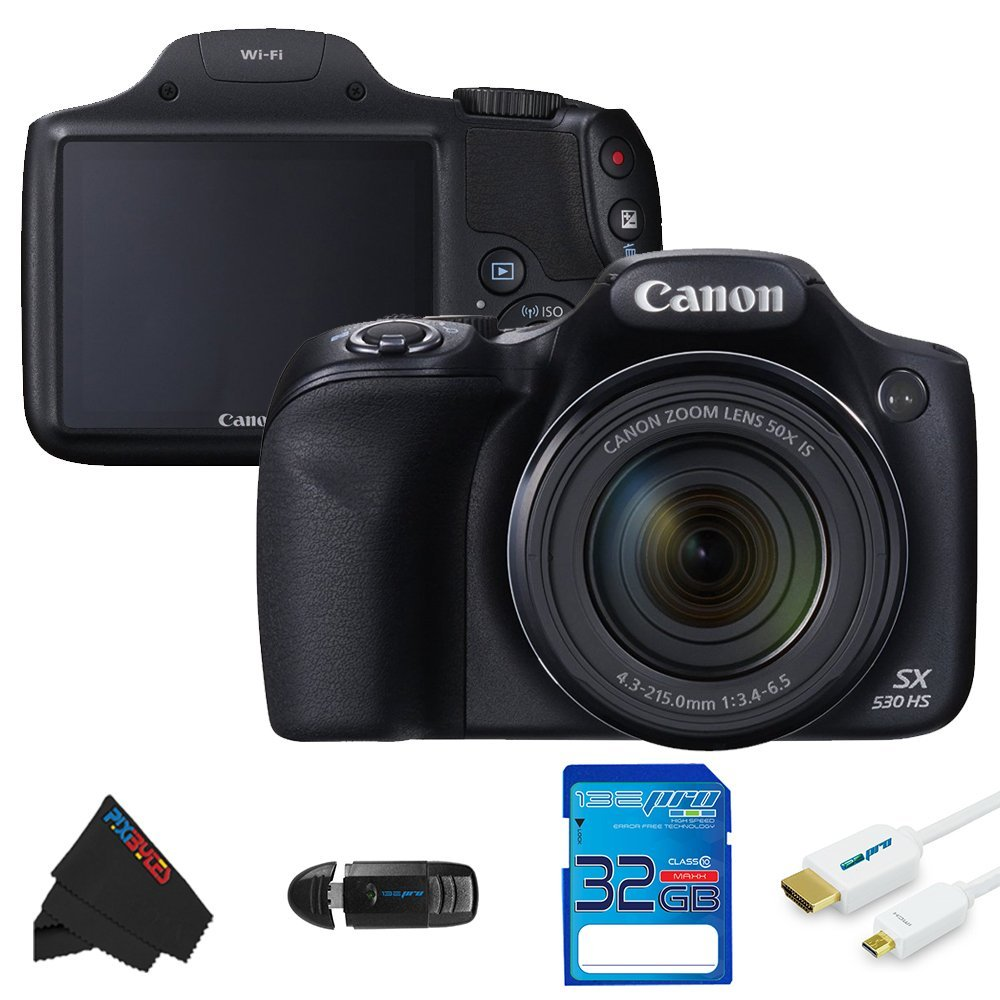 Canon Powershot SX530 HS 16.0 MP Digital Camera + 32GB Pi...