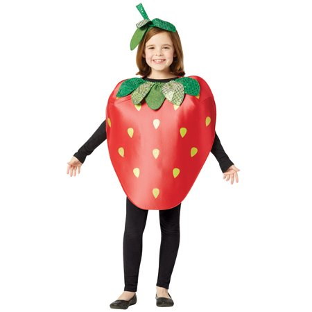 Sparkling Strawberry Child Halloween Costume, One Size, (7-10) - Strawberry Halloween Costume
