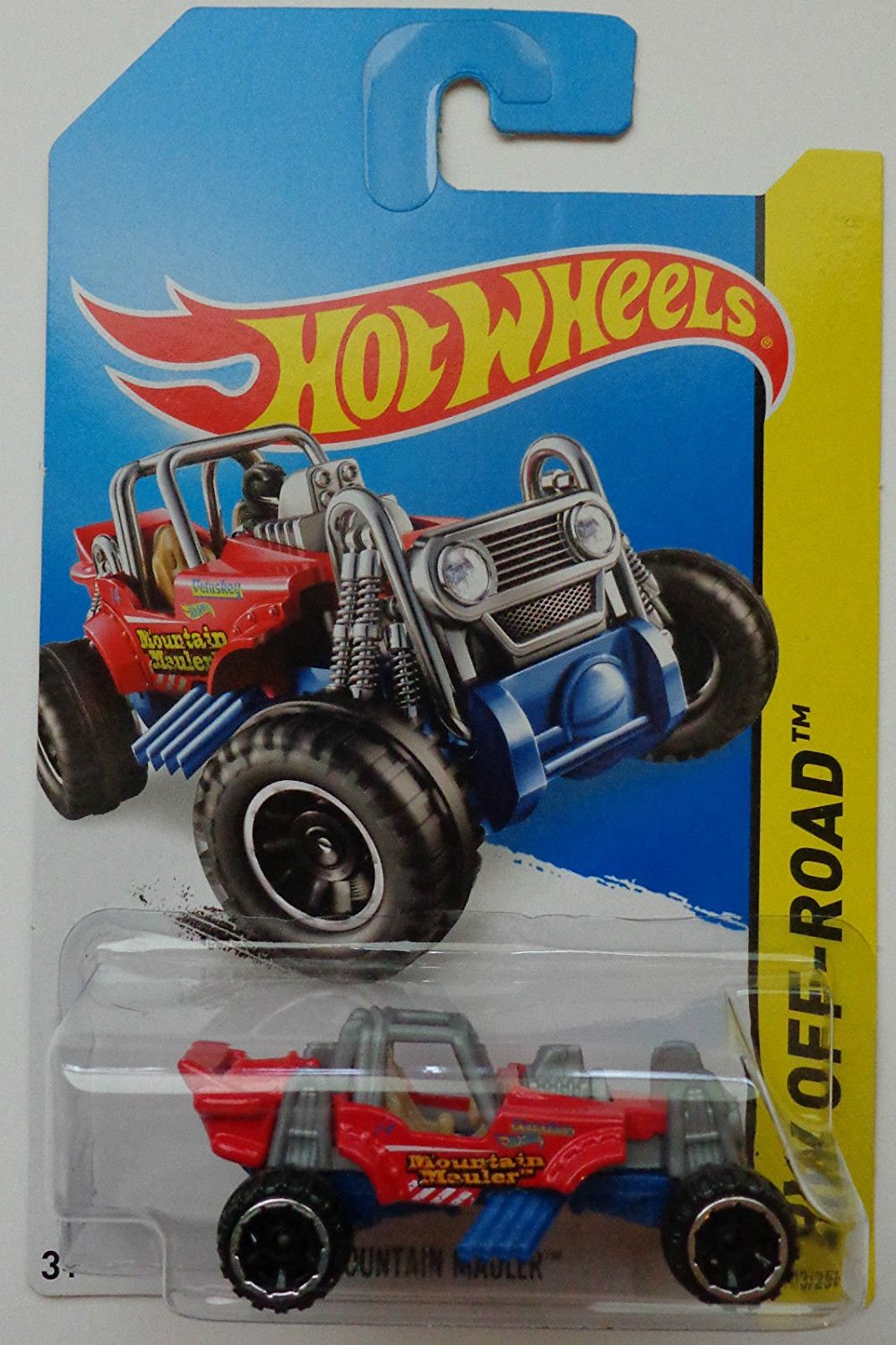 2014 Hot Wheels Hw Off-Road Mountain Mauler Red [Ships in a Box!], HOT WHEELS By Mattel by