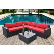 Nevis 6-Piece Conversation Sectional Seating, Red
