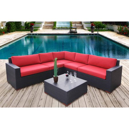 Bellini Conversation Sectional Seating Red
