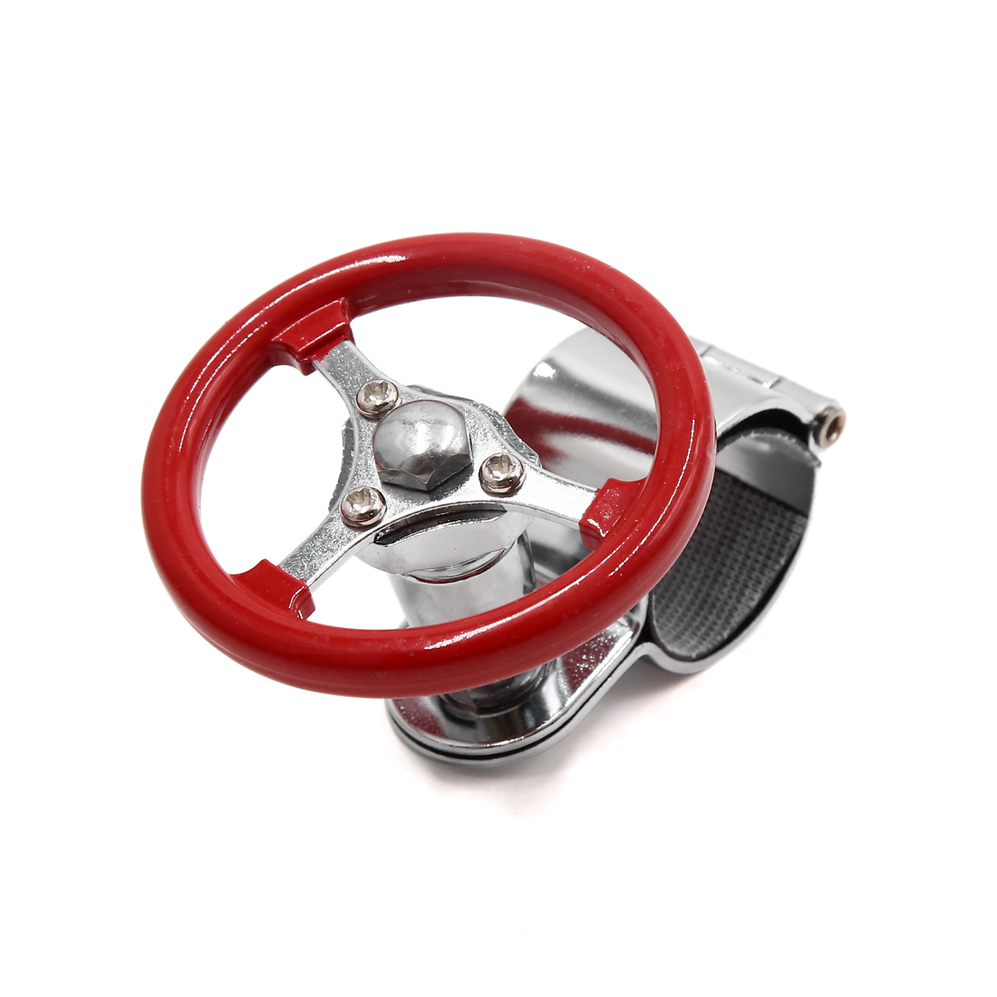 Universal Steering Wheel Grip Spinner Handle Knob Ball Red for Car Vehicle