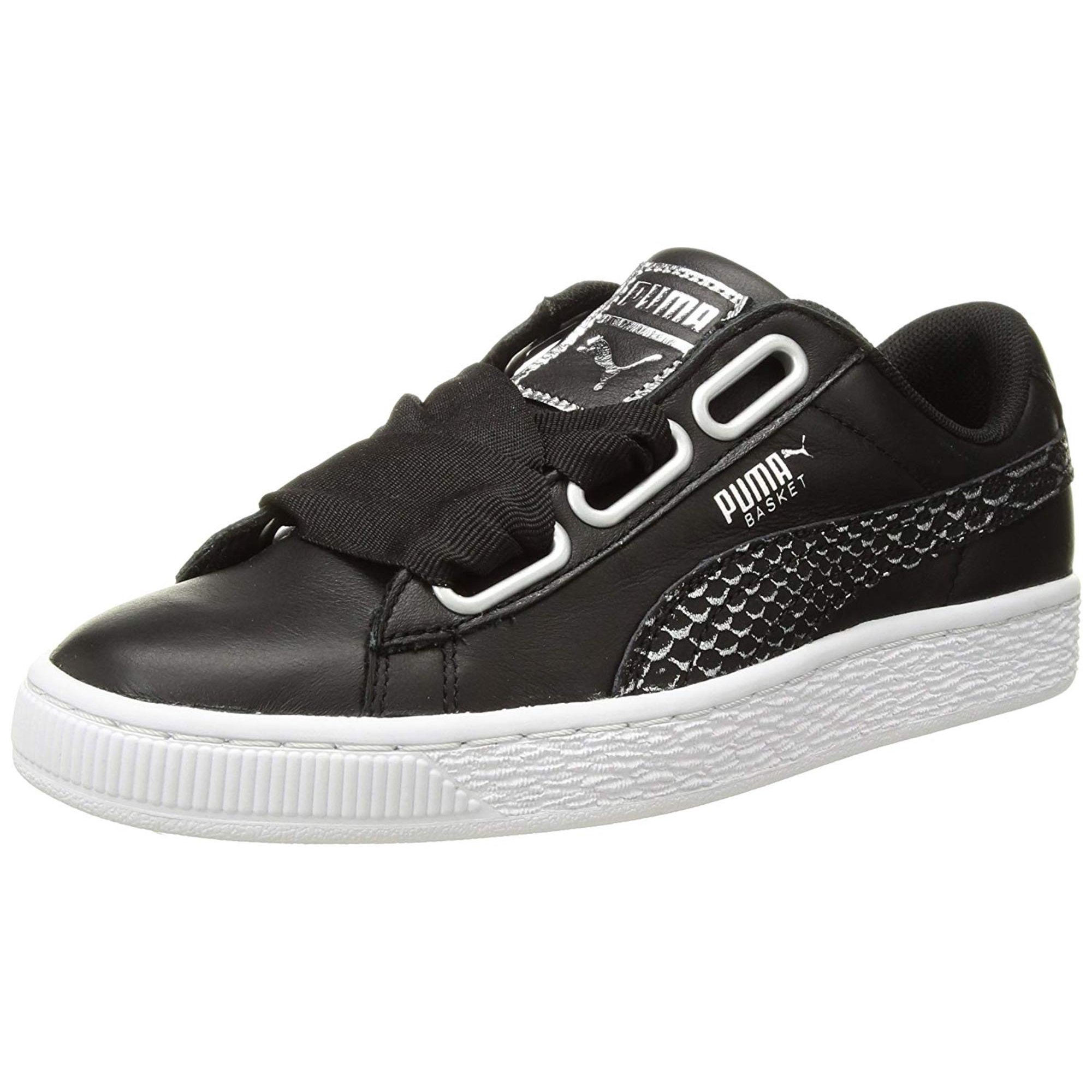 sports shoes 1fb83 96630 Puma Womens Basket Heart Oceanaire Low Top Lace Up Fashion ...