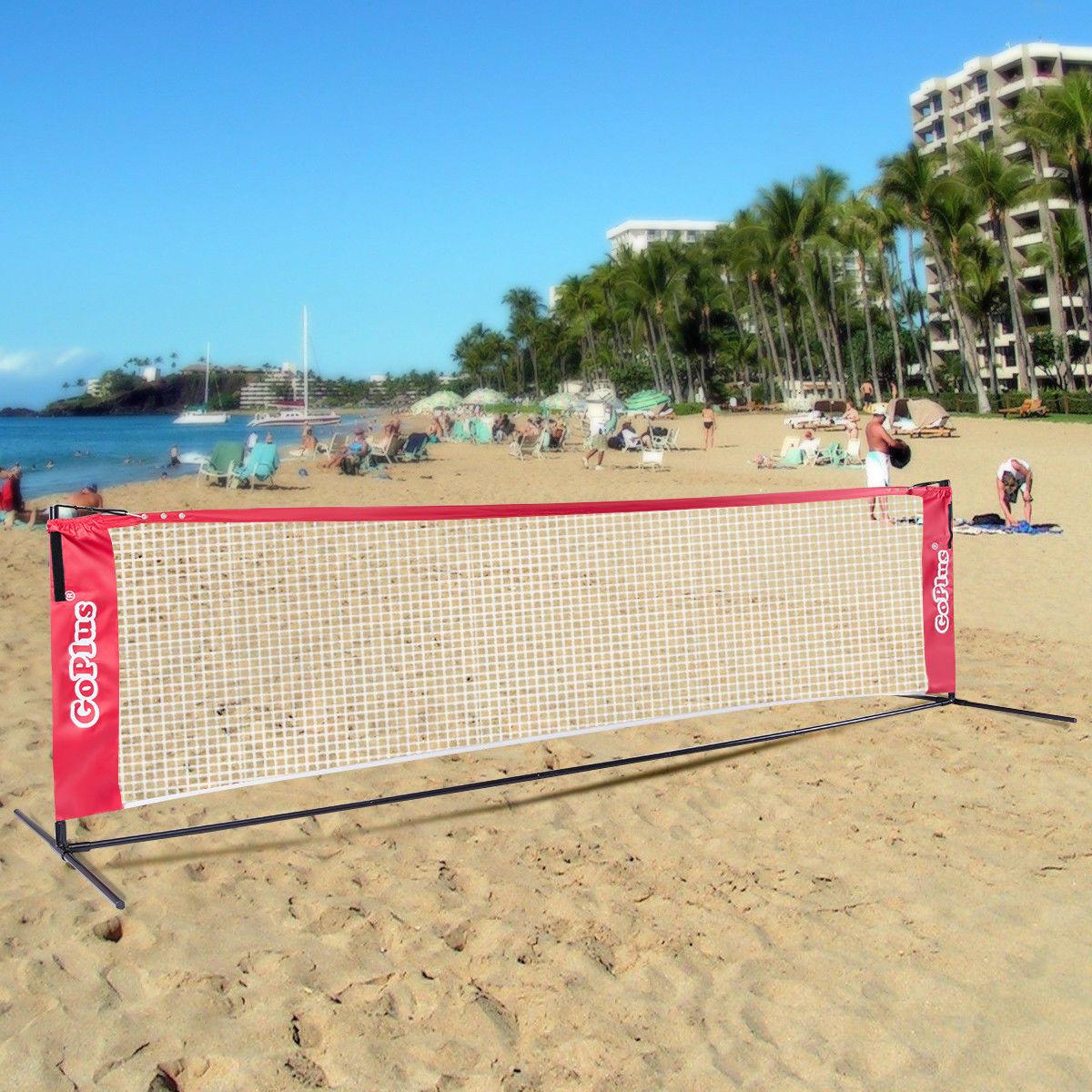Goplus 10' Mini Portable Tennis Net Training Sports In/Outdoor w/ Carrying Bag