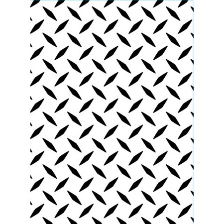 Embossing Folder Diamond Plate 4.25X5.75 By Darice - Fiskars Embossing Plates