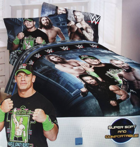 WWE Industrial Strength Twin Comforter & Sheet Set (4 Piece Bed In A Bag)