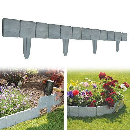 Image of Sonew 10 Pieces Cobblestone Flower Bed Border by Pure Garden by Pure Garden
