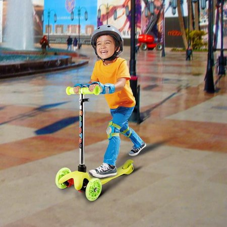 Year Old Female 3 Wheel Micro Mini Adjustable Kids Kick Scooter With LED Light Up Wheels Birthday Gifts For