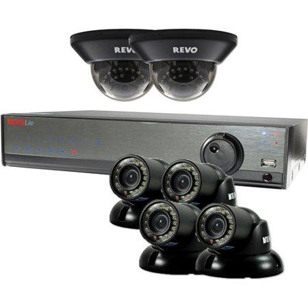 Revo America 8-Channel 1TB DVR Surveillance System with Six 700TVL 100' Night Vision Cameras