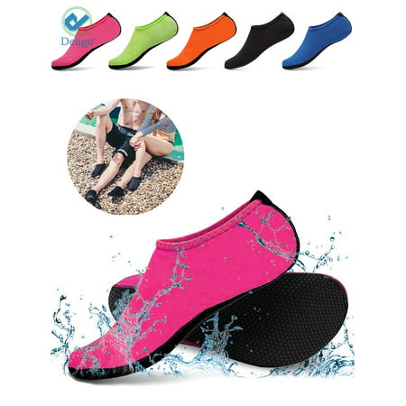 Deago Men Women Skin Water Barefoot Shoes Aqua Beach Socks Yoga Exercise Pool Swim Slip On Surf