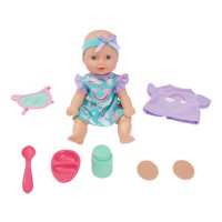 Kid Connection Mini Doll Play Set, 11 Pieces