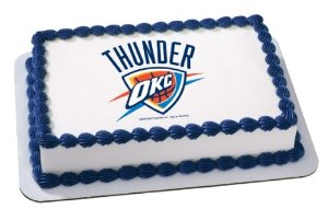 NBA OkLAhoma City Thunder Cake Decoration Edible Frosting Photo Sheet