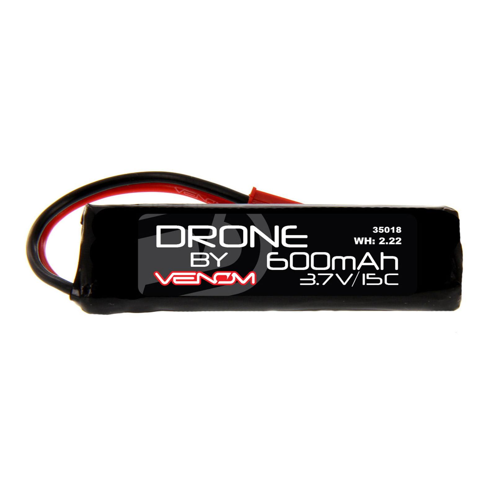WL Toys V989 Bullet 15C 1S 600mAh 3.7V LiPo Drone Battery with JST plug by Venom
