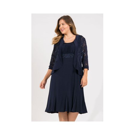 R&M Richards Short Mother Of The Bride Plus Size Dress