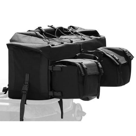 ATV Cargo Rear Rack Gear Bag with Topside Bungee Tie-Down Storage
