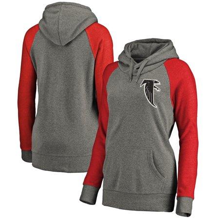 Atlanta Falcons NFL Pro Line Women's Lounge Tri-Blend Pullover Hoodie - -