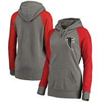 Atlanta Falcons NFL Pro Line Women's Lounge Tri-Blend Pullover Hoodie - Gray/Red