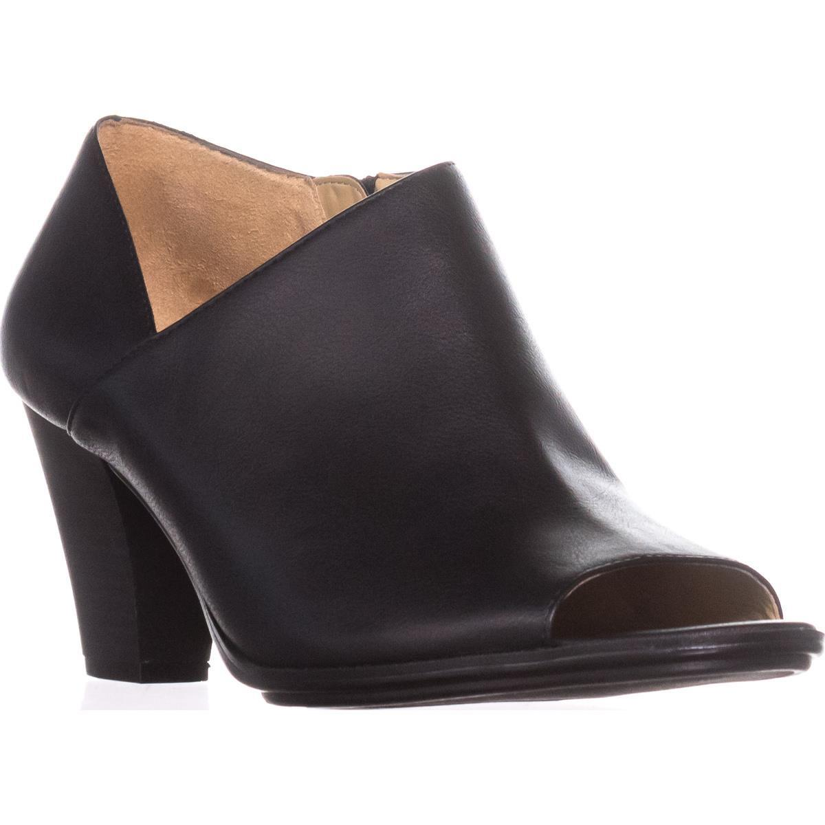 Womens Naturalizer Tristen Peep-Toe Booties, Black by Naturalizer