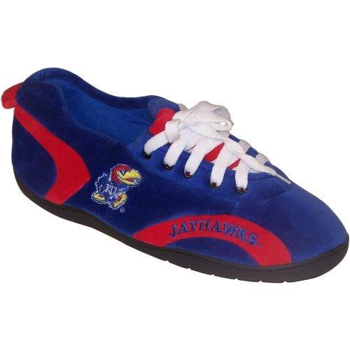 Comfy Feet NCAA All Around Youth Slippers - Kansas Jayhawks