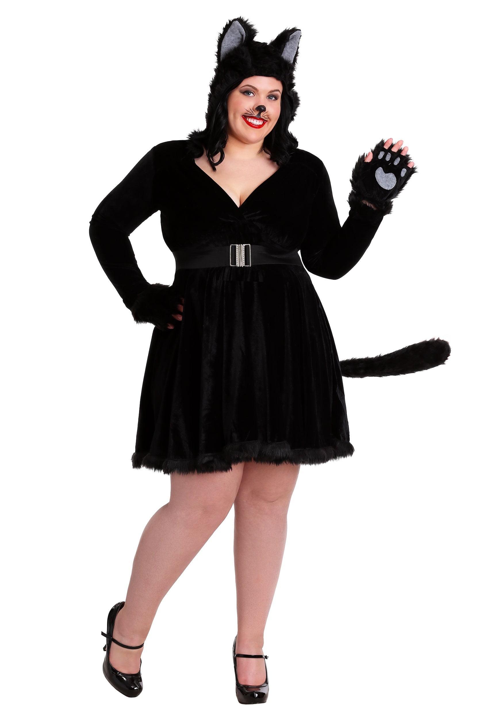 plus size women's black cat costume - walmart