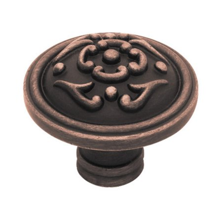 French Lace Knob (Liberty Bronze with Copper Highlights 38mm Diameter French Lace Knob,)