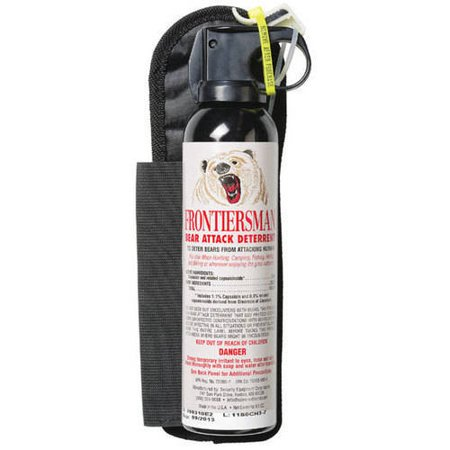 Frontiersman Bear Spray  Maximum Strength With Belt Holster   Industry Maximum 35  10 6M  Range  9 2 Oz