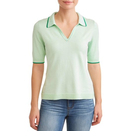 c3ed923f2 Heart N Crush - Women s Short Sleeve Polo Sweater - Walmart.com