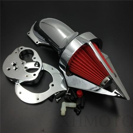 Filter Triangle (HTT-MOTOR Chrome Triangle Air Cleaner Kits Intake For Kawasaki Vulcan 1500 1600 Classic 2000-2012 )