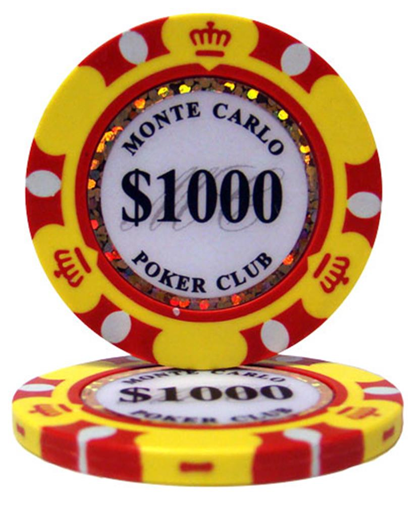 """Roll of 25 $1000 Monte Carlo 14 Gram Poker Chips"" by BryBelly"